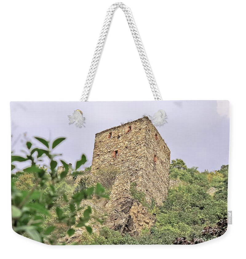Travel Weekender Tote Bag featuring the photograph Ruins Of Durnstein by Elvis Vaughn