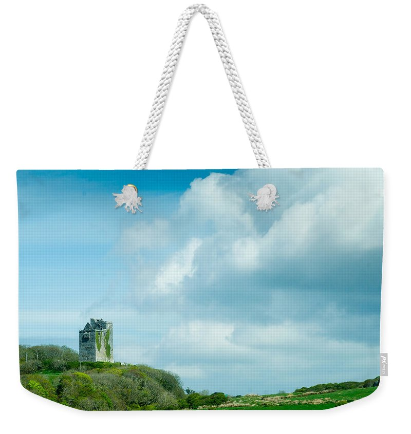 Castle Weekender Tote Bag featuring the photograph Ruins Of Irish Castle by Douglas Barnett