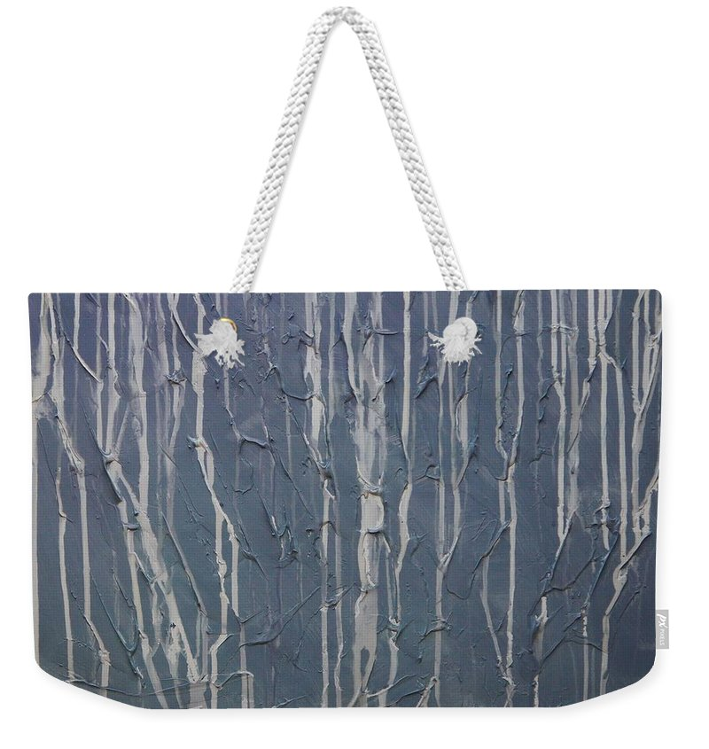 Abstract Weekender Tote Bag featuring the painting Ruins by Sergey Bezhinets