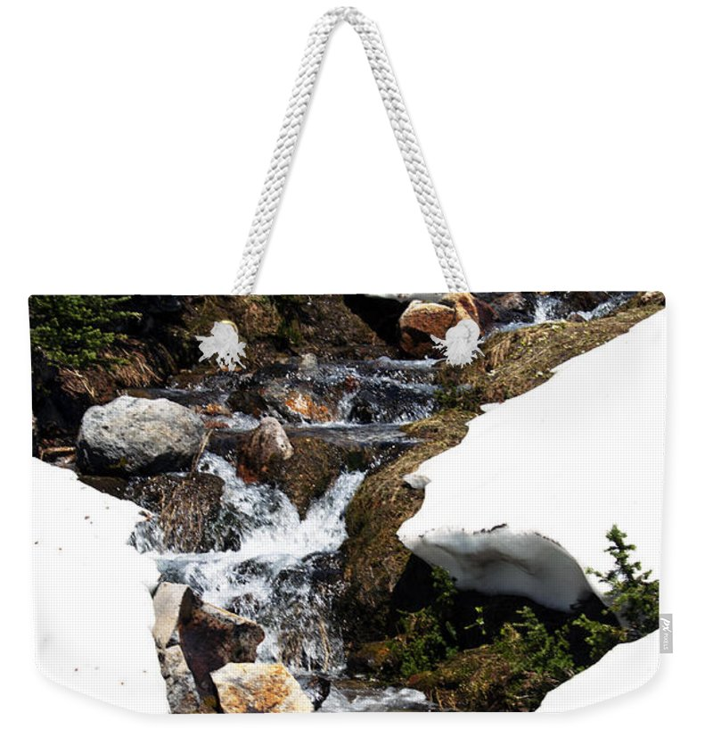 Mountain River Weekender Tote Bag featuring the photograph Running Down The Mountain by Edward Hawkins II
