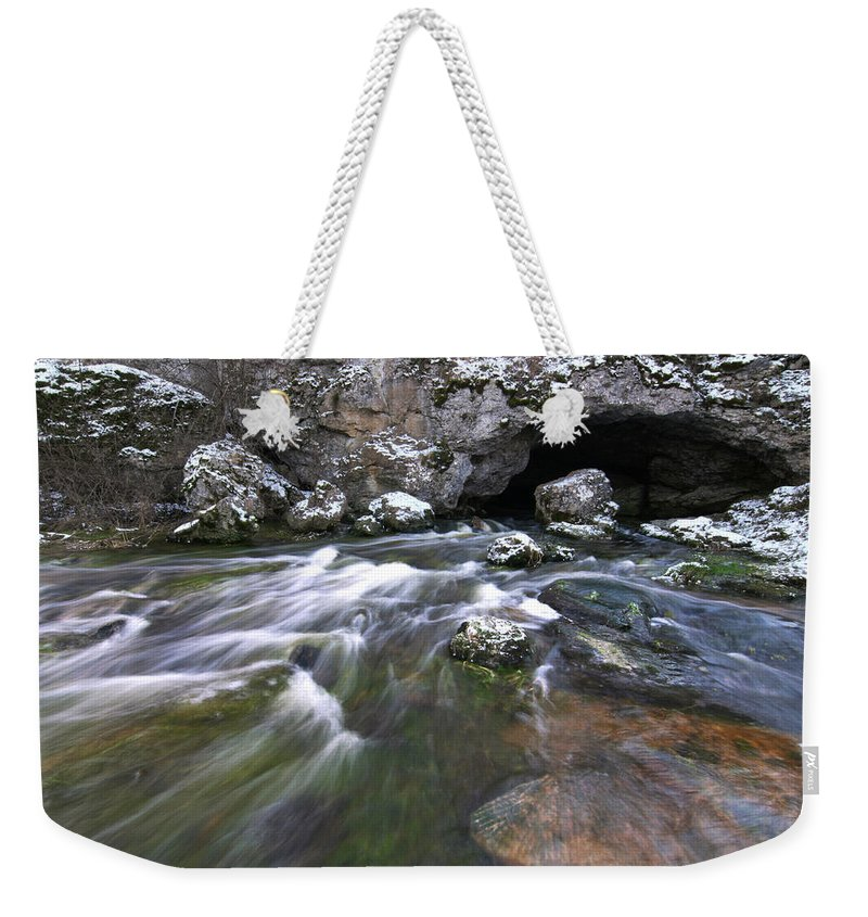 Nature Weekender Tote Bag featuring the photograph Running Water Cave by Dreamland Media