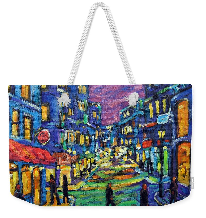 Rural City Scape Weekender Tote Bag featuring the painting Rural City Scape By Prankearts by Richard T Pranke