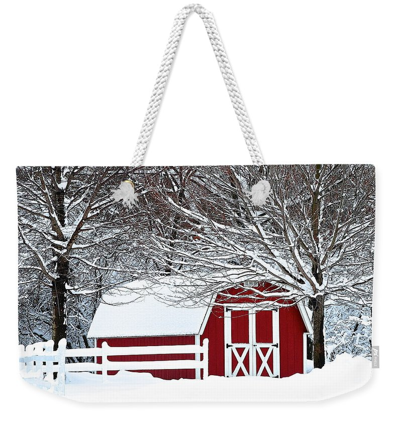 Farm Weekender Tote Bag featuring the photograph Rural Living by Frozen in Time Fine Art Photography