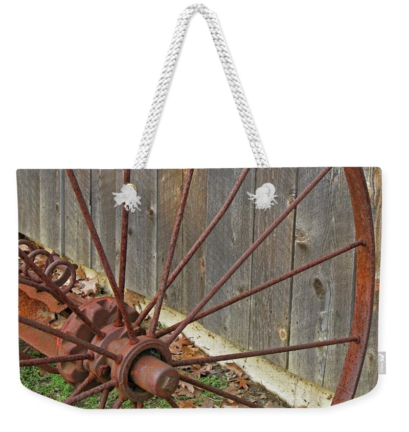 Relic Weekender Tote Bag featuring the photograph Rural Relics by Ann Horn