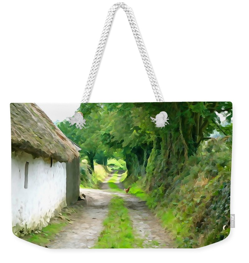 Path Weekender Tote Bag featuring the photograph Rural Road by Charlie and Norma Brock