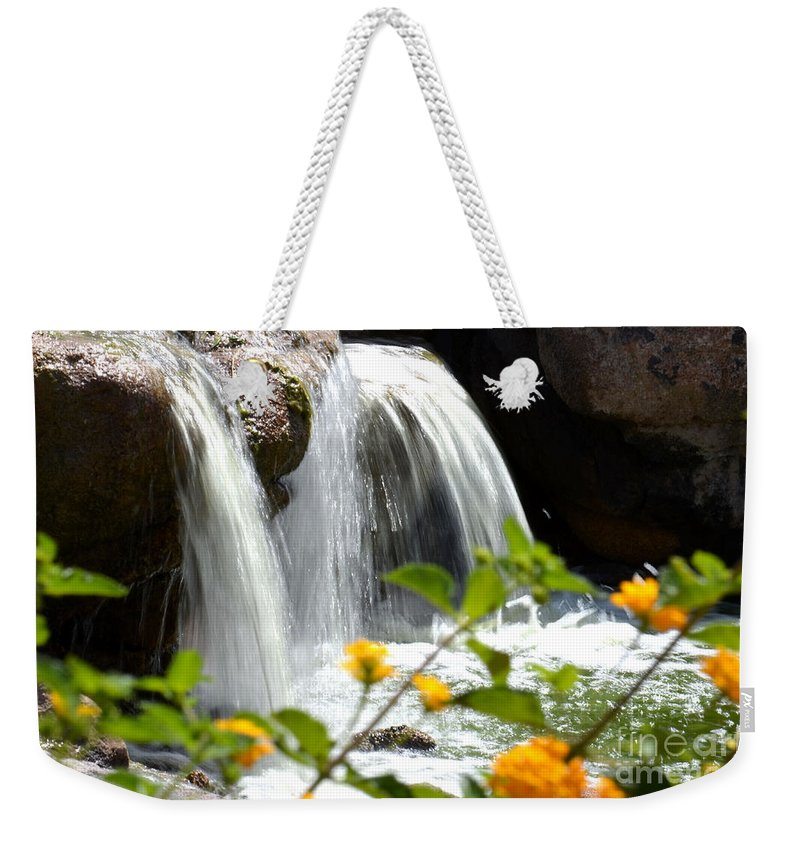 Deb Halloran Weekender Tote Bag featuring the photograph Rushing Along by Deb Halloran