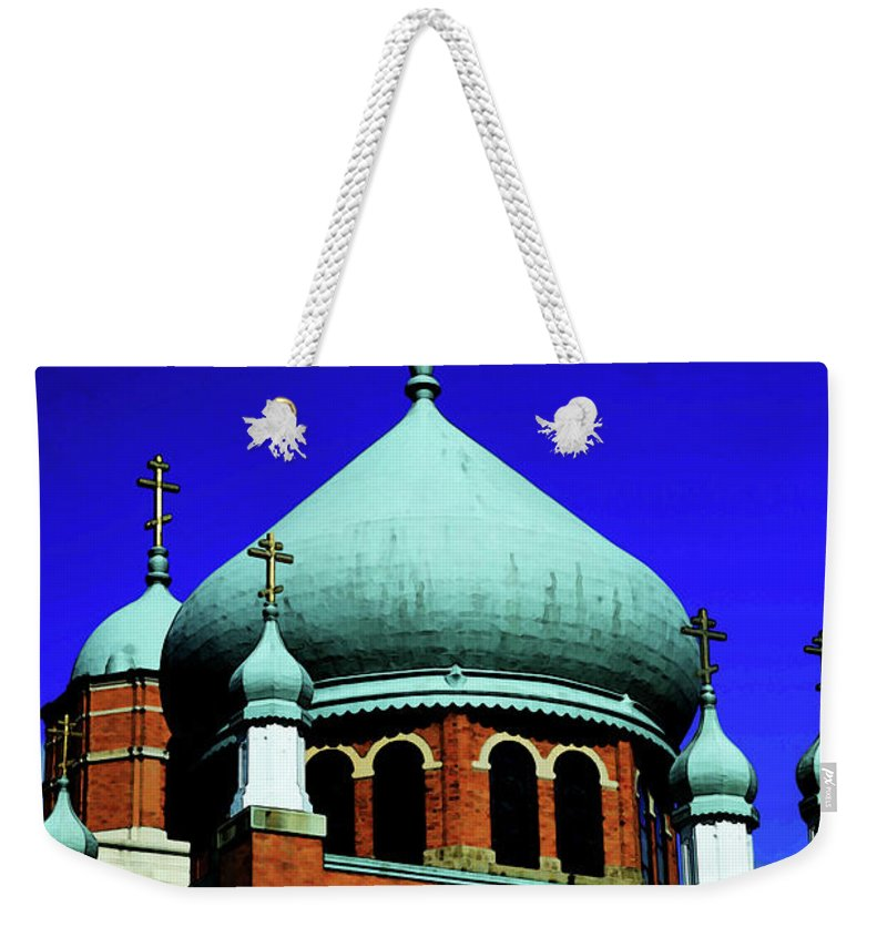 Church Weekender Tote Bag featuring the photograph Russian Orthodox Church by Karol Livote
