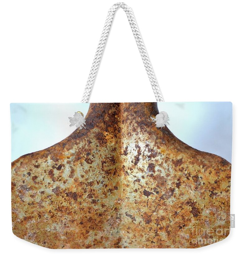 Rust Weekender Tote Bag featuring the photograph Rusted Shoulders by Mary Deal