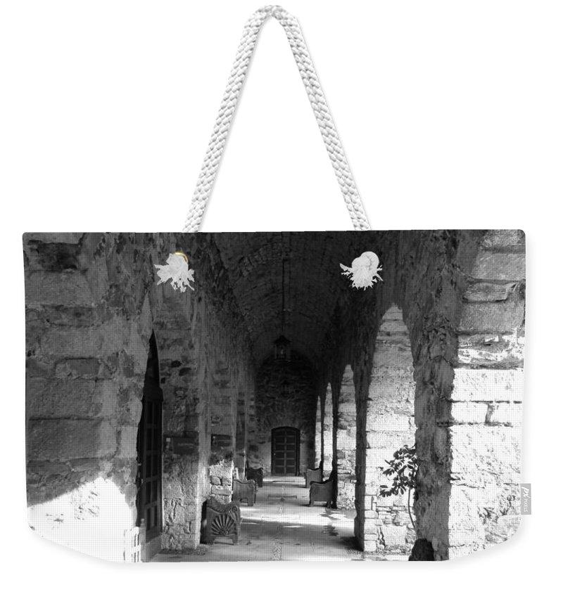 Century Weekender Tote Bag featuring the photograph Rustic Castle Inn Hall 2 by Joe Wyman