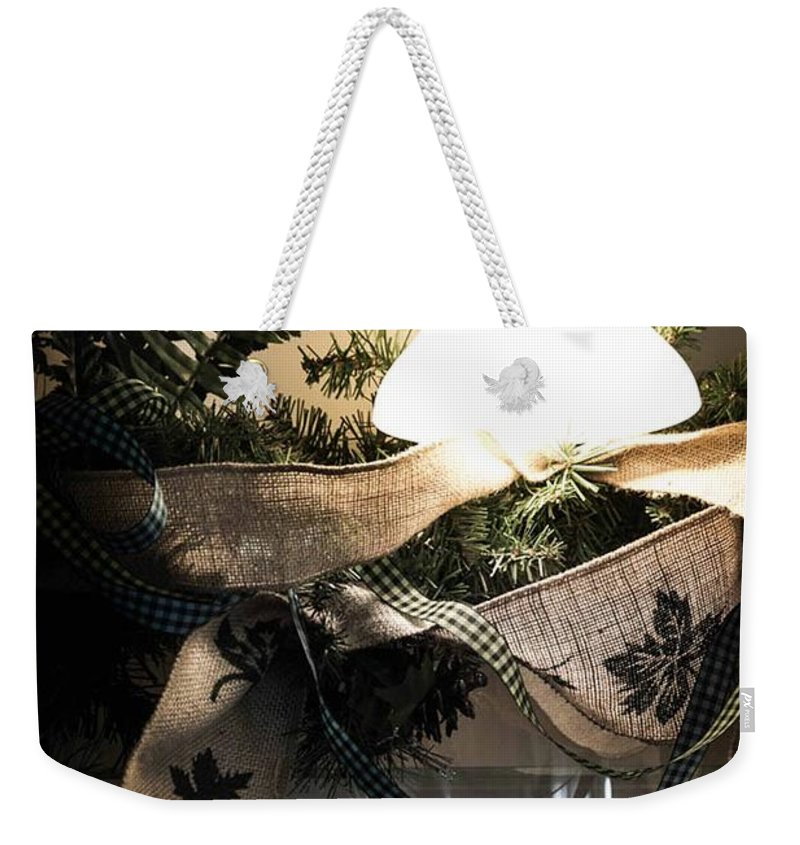 Rustic Weekender Tote Bag featuring the photograph Rustic Holiday by Patricia Babbitt