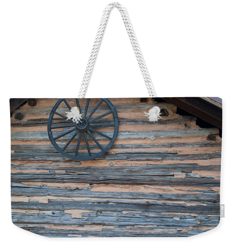 Popular Weekender Tote Bag featuring the photograph Rustic Ornamentation - Yates Mill Pond by Paulette B Wright