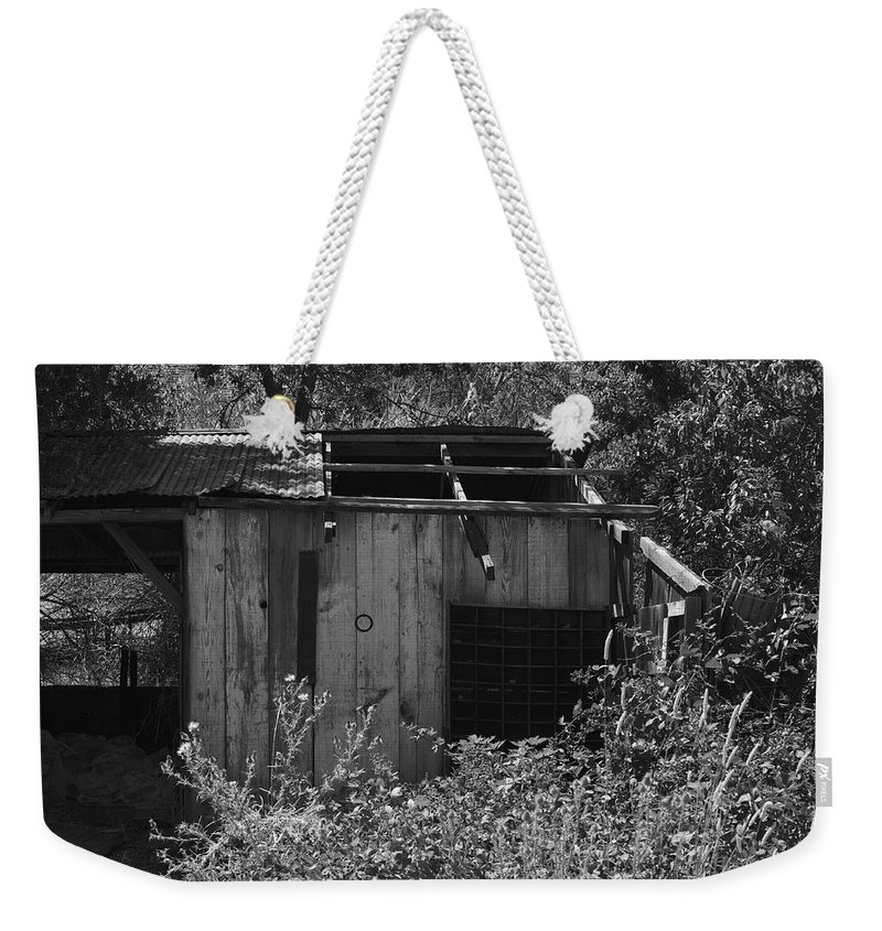 Rustic Weekender Tote Bag featuring the photograph Rustic Shed 2 by Richard J Cassato