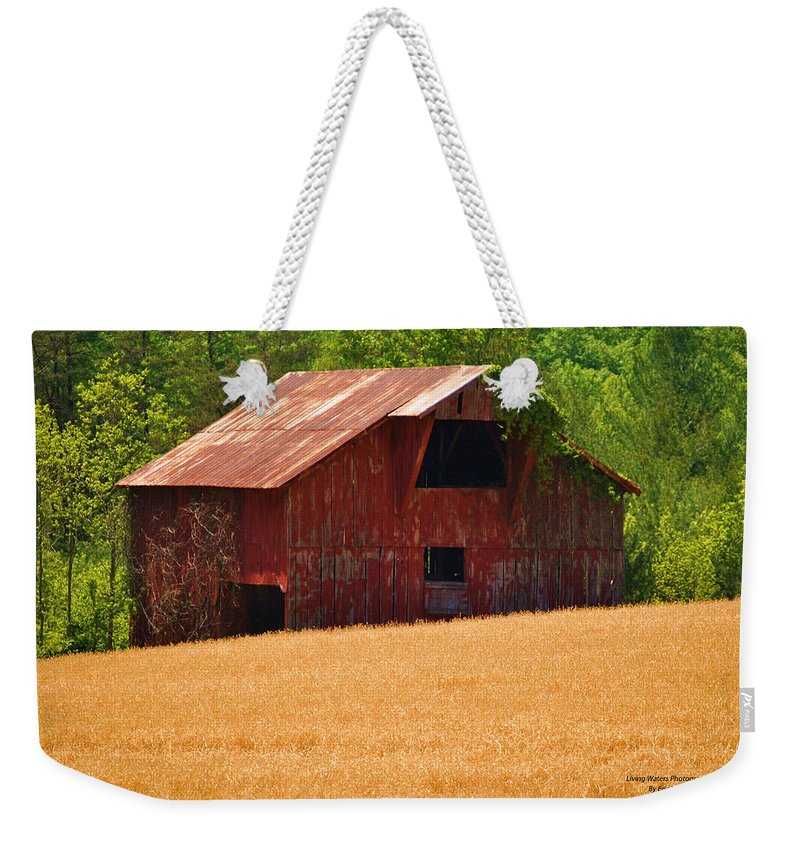 Barn Weekender Tote Bag featuring the photograph Rusty Coat by Eric Liller