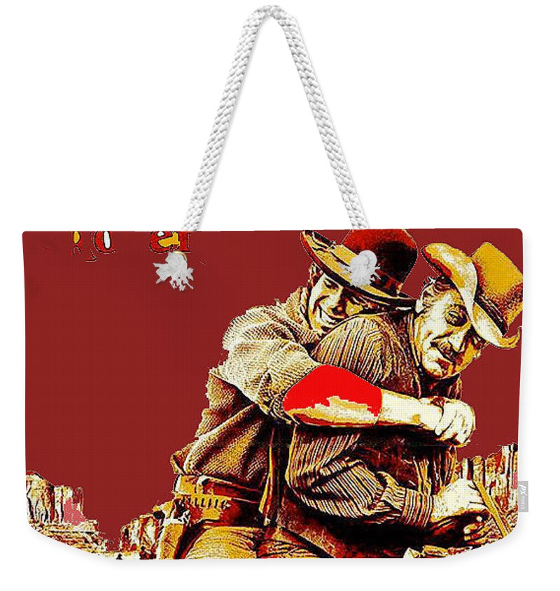 Ryan O'neal William Holden Publicity Photo The Wild Rovers 1971 Weekender Tote Bag featuring the photograph Ryan O'neal William Holden Publicity Photo The Wild Rovers 1971-2011 by David Lee Guss