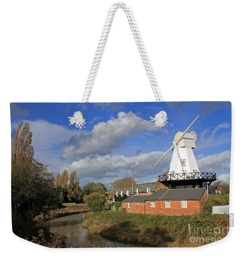 Rye Windmill Uk Sussex River British English Countryside Landscape Weekender Tote Bag featuring the photograph Rye Windmill by Julia Gavin