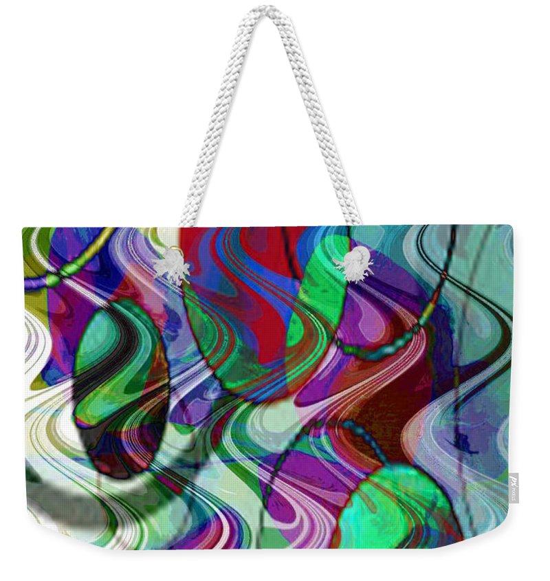 Digital Art Abstract Weekender Tote Bag featuring the digital art Rythem Of Change by Yael VanGruber
