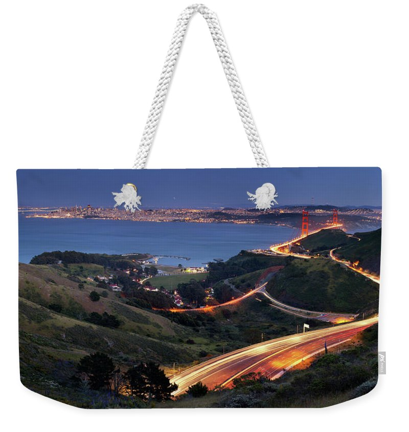 Scenics Weekender Tote Bag featuring the photograph S Marks The Spot by Vicki Mar Photography