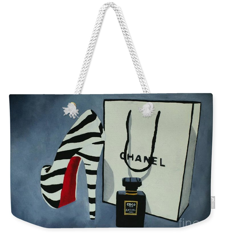 Fashion Weekender Tote Bag featuring the painting Sacred by My Inspiration
