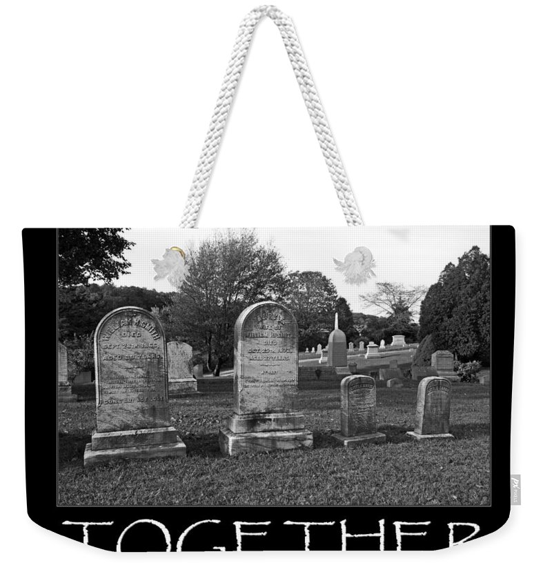 Grave Weekender Tote Bag featuring the photograph Sad Legacy by Joe Geraci