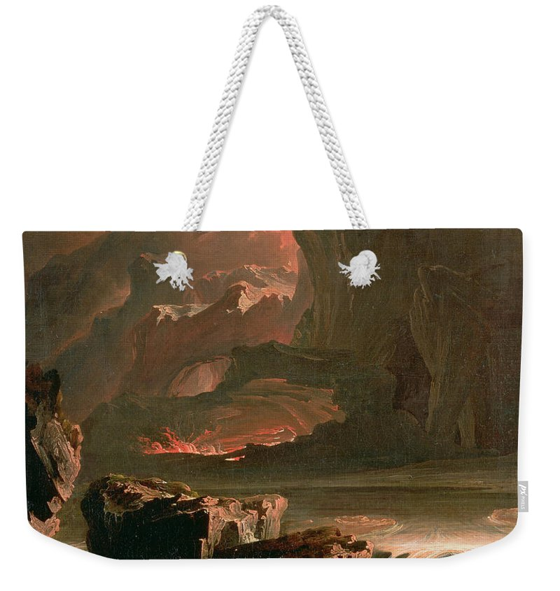 Zadok The High Priest Weekender Tote Bag featuring the painting Sadak In Search Of The Waters by John Martin