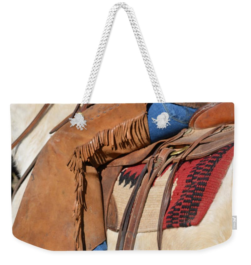 Drover Weekender Tote Bag featuring the photograph Saddle Up I by Gale Cochran-Smith