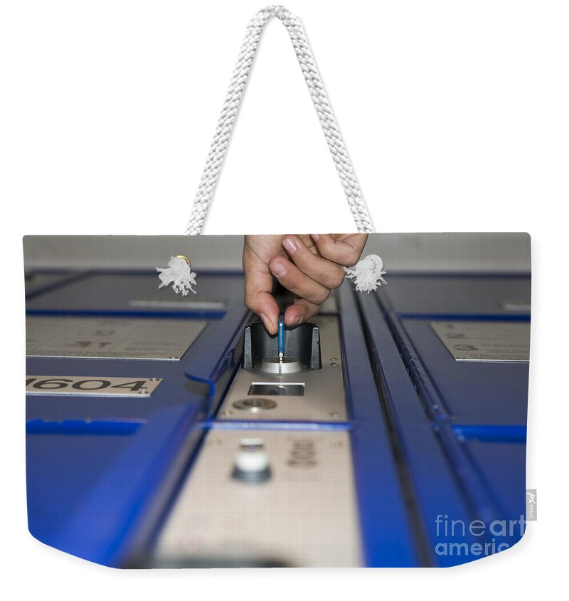 Safe Box Weekender Tote Bag featuring the photograph Safe Box by Mats Silvan
