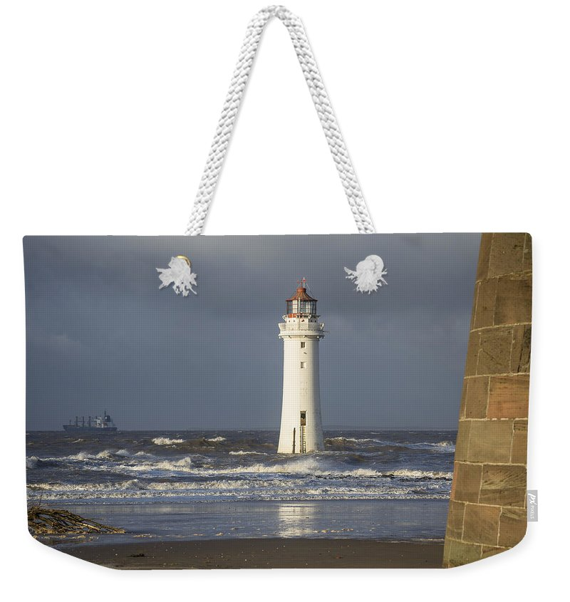 Sea Weekender Tote Bag featuring the photograph Safely Past by Spikey Mouse Photography