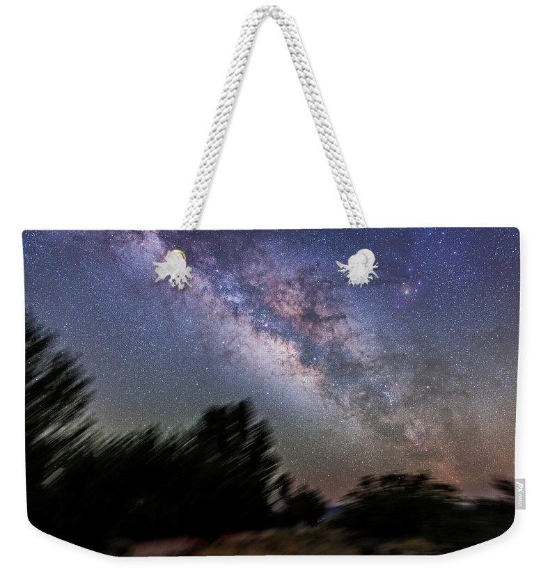 Arizona Weekender Tote Bag featuring the photograph Sagittarius And Scorpius From Arizona by Alan Dyer