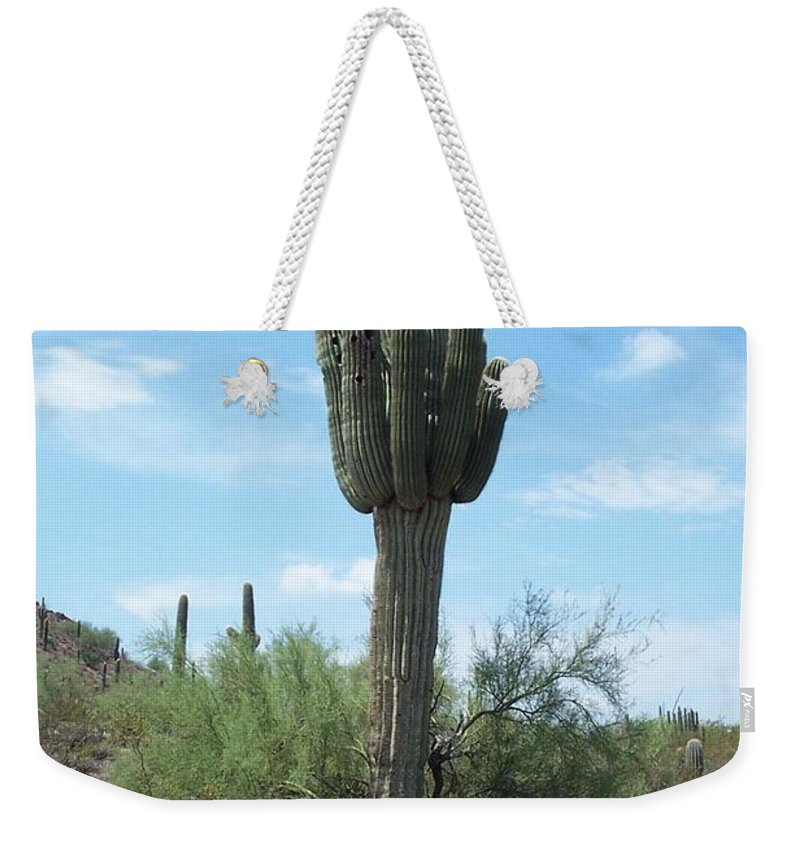 Saguaro Weekender Tote Bag featuring the photograph Saguaro by Christiane Schulze Art And Photography