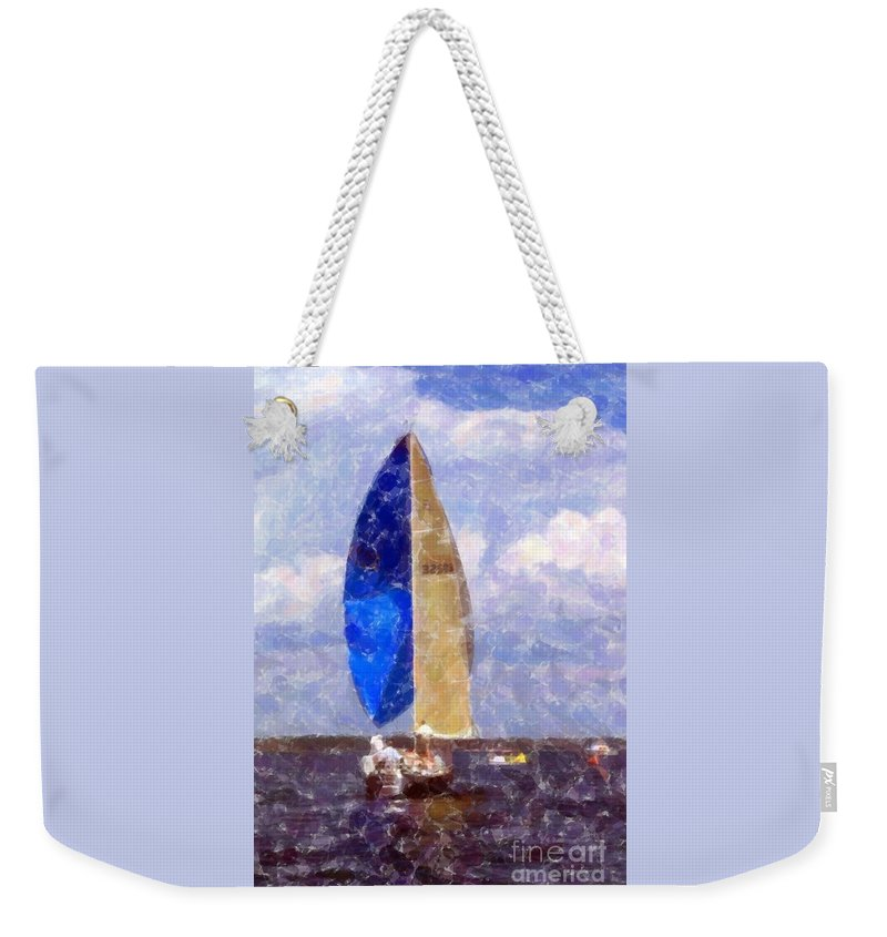 Sailboat Weekender Tote Bag featuring the photograph Sailboat by Kathleen Struckle