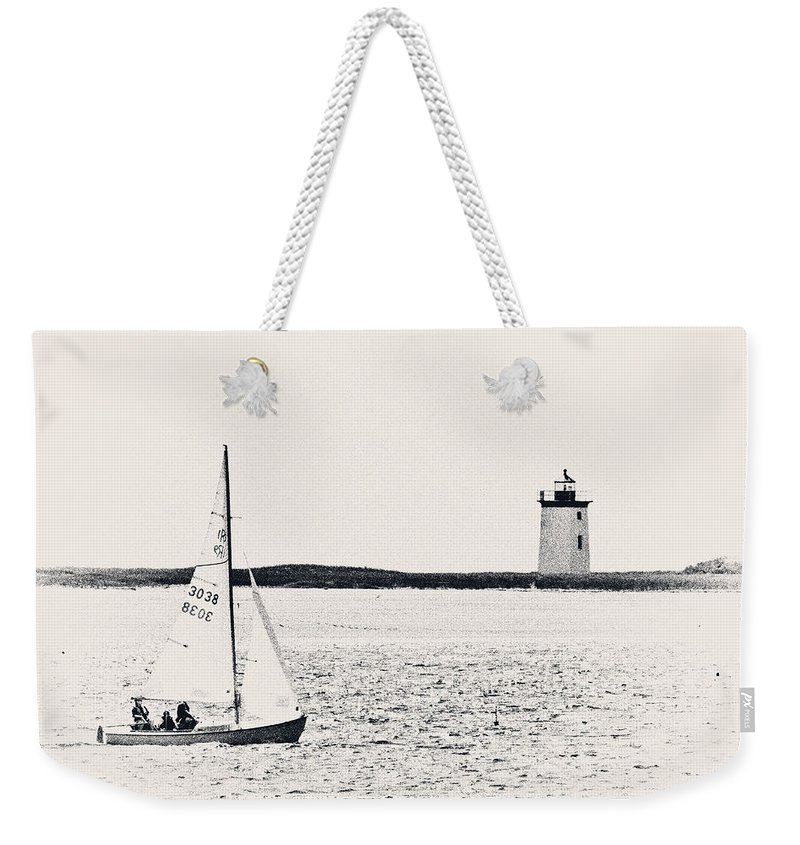 Sailboat Weekender Tote Bag featuring the photograph Sailing In Cape Cod by Karol Livote