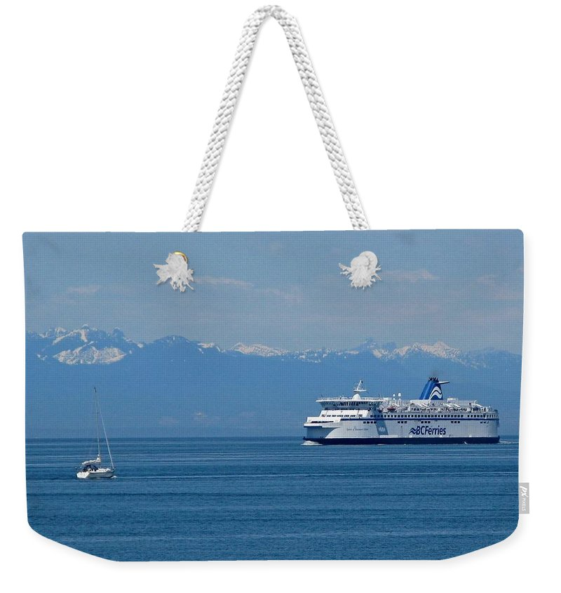 Beautiful British Columbia Weekender Tote Bag featuring the photograph Sailing In The Summer by Lena Photo Art