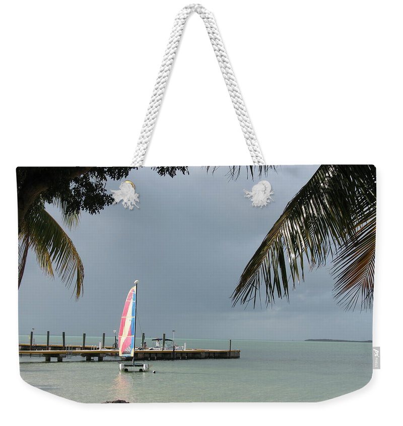 Sailing Boat Weekender Tote Bag featuring the photograph Sailing Key Largo by Christiane Schulze Art And Photography