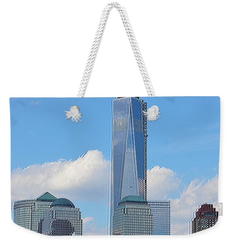 Architecture Weekender Tote Bag featuring the photograph Sails And Skyline by Sonali Gangane