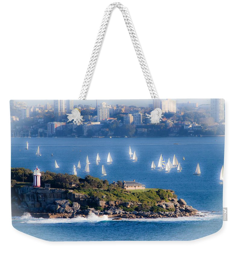 South Head Weekender Tote Bag featuring the photograph Sails Out To Play by Miroslava Jurcik