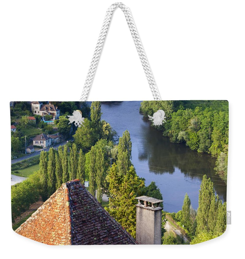 Buildings Weekender Tote Bag featuring the photograph Saint Cirq Lapopie by Brian Jannsen