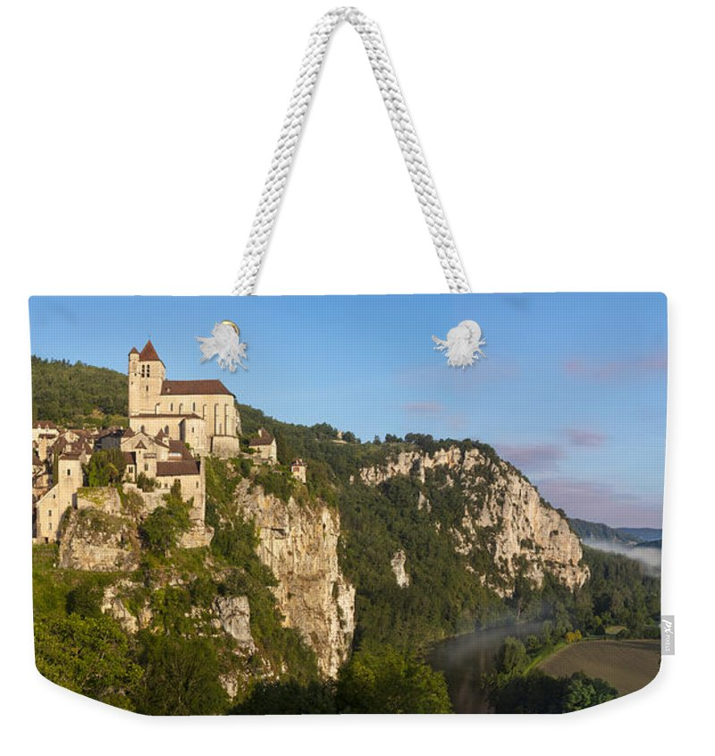 Buildings Weekender Tote Bag featuring the photograph Saint Cirq Panoramic by Brian Jannsen