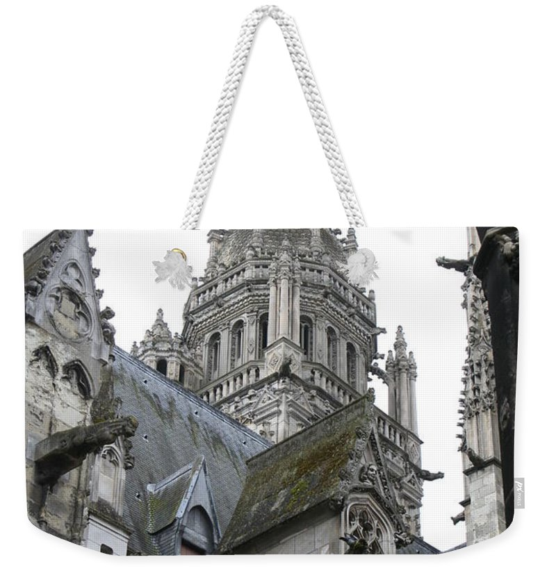 Cathedral Weekender Tote Bag featuring the photograph Saint Gatien's Cathedral Steeple by Christiane Schulze Art And Photography