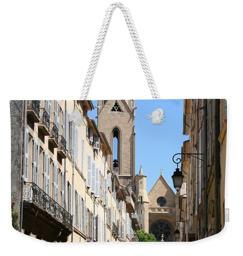 Church Weekender Tote Bag featuring the photograph Saint Jean De Malte - Aix En Provence by Christiane Schulze Art And Photography