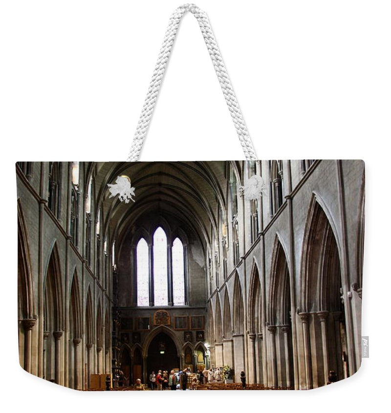 Saint Patrick's Cathedral Weekender Tote Bag featuring the photograph Saint Patrick's Cathedral Interior Dublin by Christiane Schulze Art And Photography