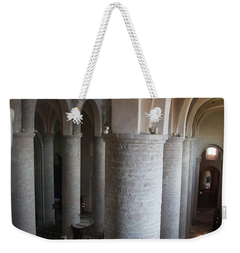 Saint Philibert Weekender Tote Bag featuring the photograph Saint Philibert Church Interior Burgundy by Christiane Schulze Art And Photography