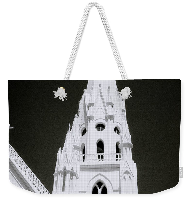 Architecture Weekender Tote Bag featuring the photograph The Surreal Spire by Shaun Higson