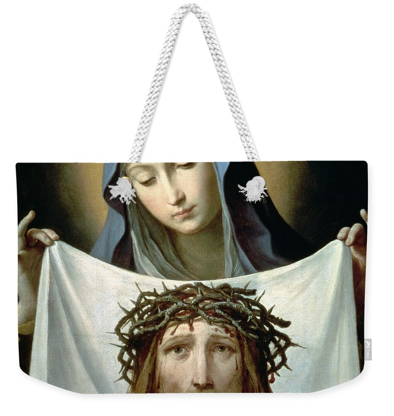 Son Of God Weekender Tote Bag featuring the painting Saint Veronica by Guido Reni
