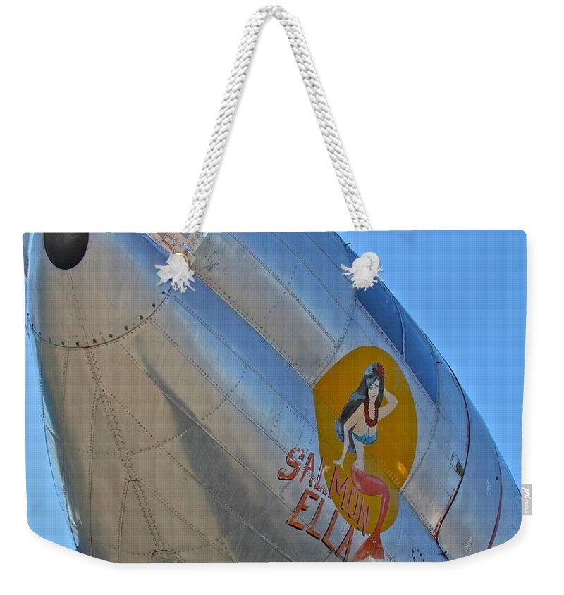 Aircraft Weekender Tote Bag featuring the photograph Salmon Ella by Rick Monyahan