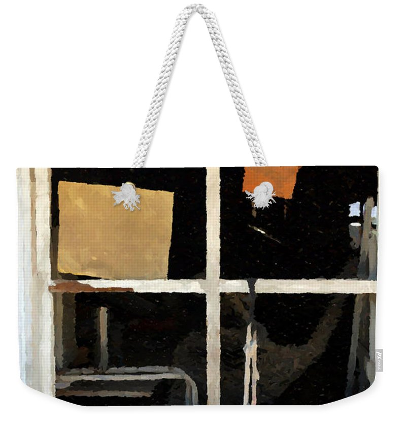 Saloon Weekender Tote Bag featuring the photograph Saloon Windows by Doc Braham