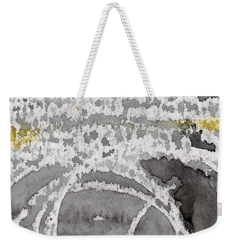 Water Weekender Tote Bag featuring the painting Saltwater- Abstract Painting by Linda Woods