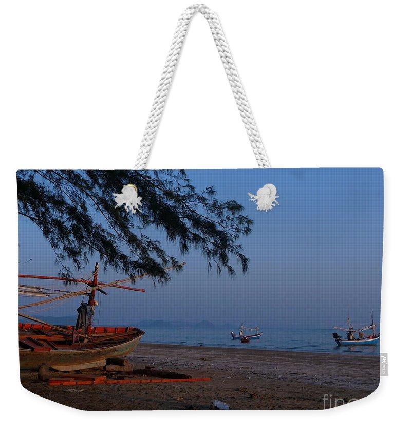 Seascape Weekender Tote Bag featuring the photograph Sam Roi Yod Beach 04 by Pusita Gibbs