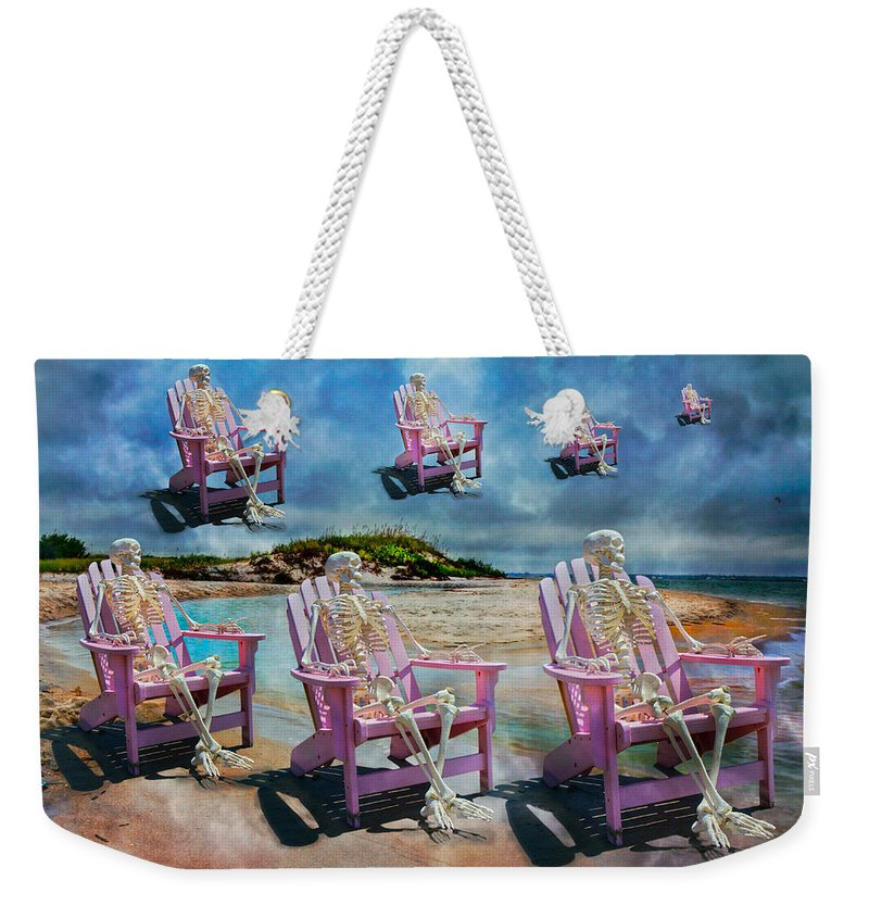 Skeleton Weekender Tote Bag featuring the photograph Sam's Imagination by Betsy Knapp