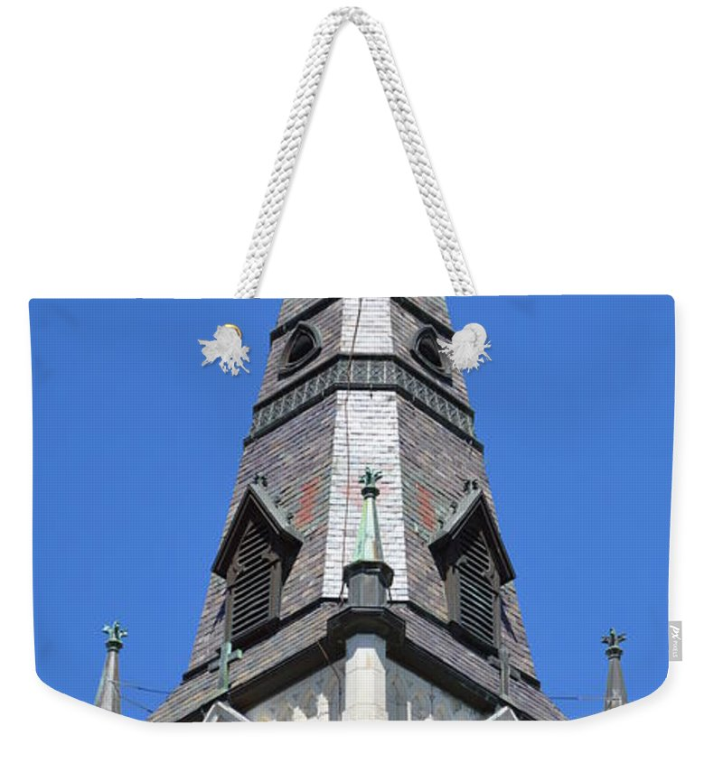 Architecture Weekender Tote Bag featuring the photograph San Antonio Chuch 01 by Shawn Marlow