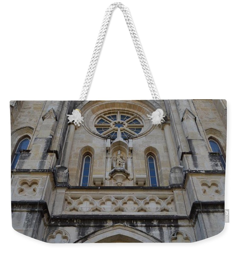 Architecture Weekender Tote Bag featuring the photograph San Antonio Church 02 by Shawn Marlow